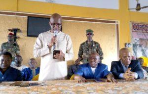 Siège du RPG: Ministre Ibrahima Kourouma demande aux militants d'être débout pour défendre le président…»,