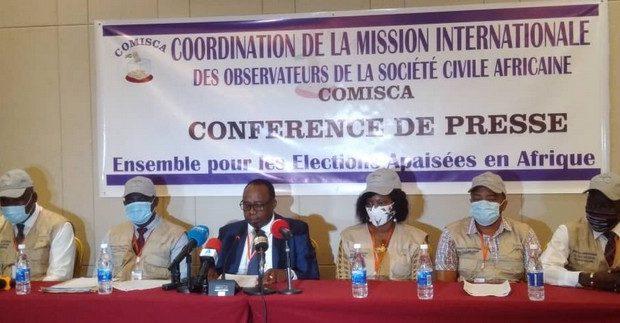 Présidentielle du 18 Octobre 2020: La COMISCA considère que le scrutin a été libre, transparente et équitable…