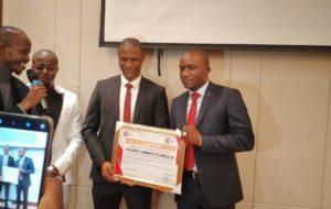 Honoré par Sankaran Agnecy Communication, Mohamed Aminata Doumbouya dédie son prix à la jeunesse et au Président de la République…