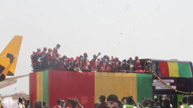 Sport: retour triomphal du Syli local à Conakry