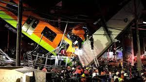 Un pont s'effondre sous le poids d'un métro à Mexico, au moins 20 morts