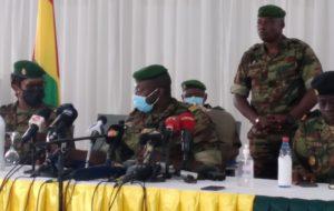 """Porte-parole du CNRD devant la presse: """" l'ancien Président déchu, Pr Alpha  Condé  demeurera en Guinée…""""×"""